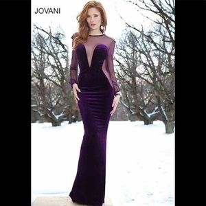 Jovani Velvet Dress